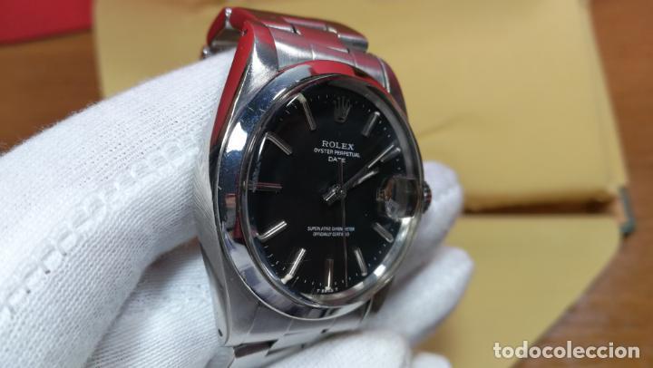 Relojes automáticos: RELOJ ROLEX OYSTER DATE ESFERA NEGRA del año 1976 , calibre 1570, de 26 rubís - Foto 67 - 183792187