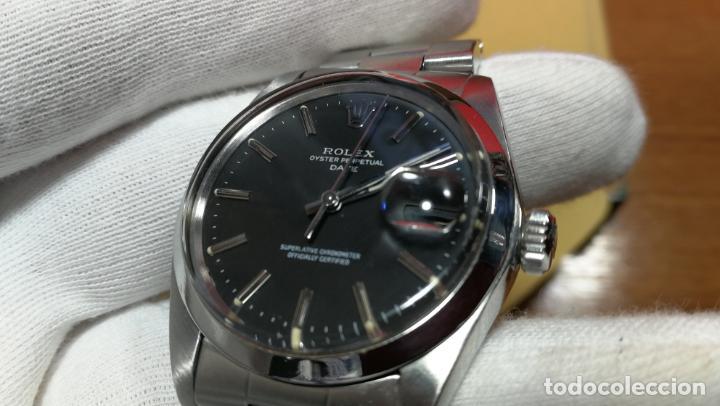 Relojes automáticos: RELOJ ROLEX OYSTER DATE ESFERA NEGRA del año 1976 , calibre 1570, de 26 rubís - Foto 73 - 183792187