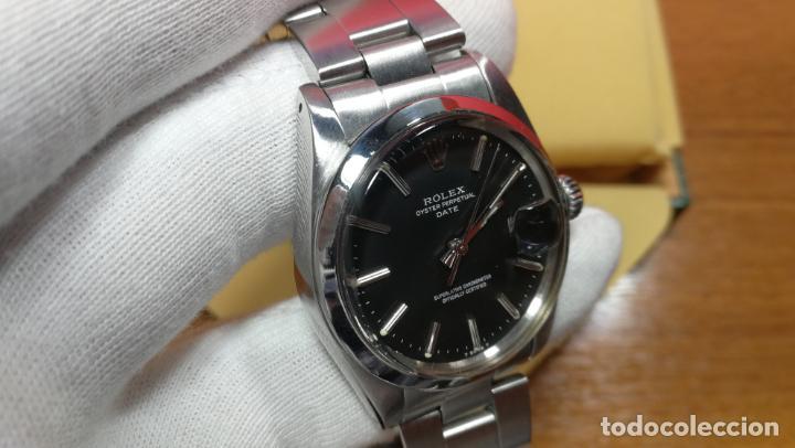 Relojes automáticos: RELOJ ROLEX OYSTER DATE ESFERA NEGRA del año 1976 , calibre 1570, de 26 rubís - Foto 74 - 183792187