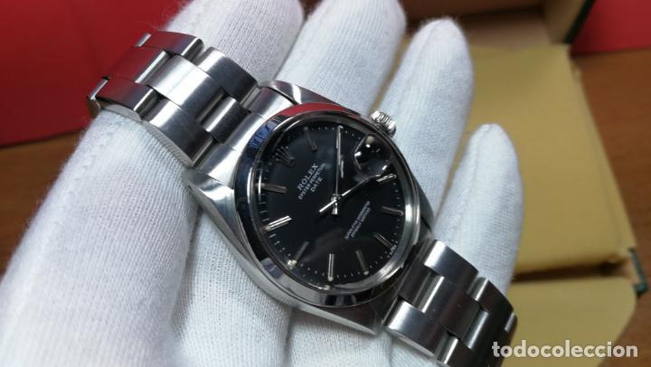 Relojes automáticos: RELOJ ROLEX OYSTER DATE ESFERA NEGRA del año 1976 , calibre 1570, de 26 rubís - Foto 75 - 183792187