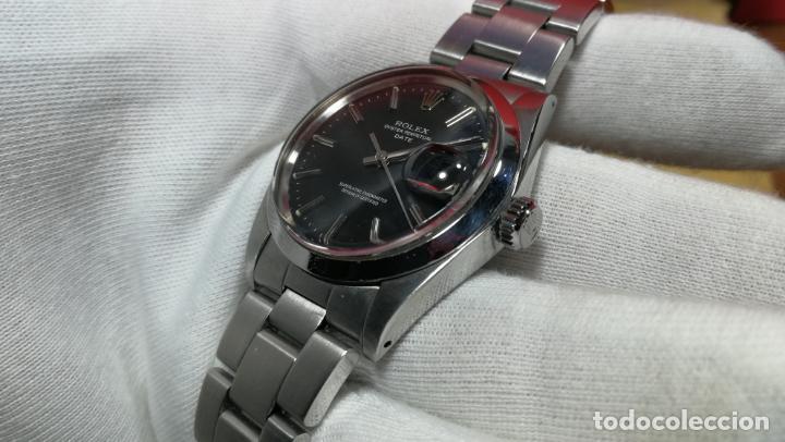 Relojes automáticos: RELOJ ROLEX OYSTER DATE ESFERA NEGRA del año 1976 , calibre 1570, de 26 rubís - Foto 76 - 183792187