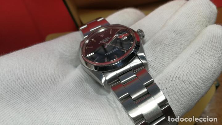 Relojes automáticos: RELOJ ROLEX OYSTER DATE ESFERA NEGRA del año 1976 , calibre 1570, de 26 rubís - Foto 77 - 183792187