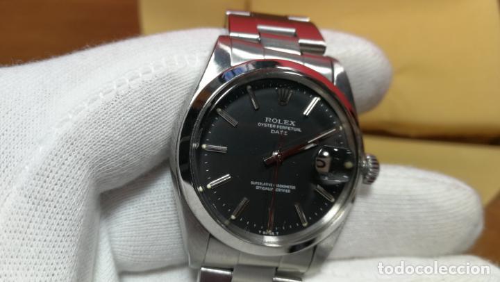 Relojes automáticos: RELOJ ROLEX OYSTER DATE ESFERA NEGRA del año 1976 , calibre 1570, de 26 rubís - Foto 79 - 183792187