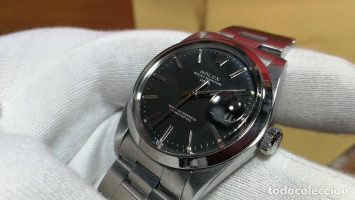Relojes automáticos: RELOJ ROLEX OYSTER DATE ESFERA NEGRA del año 1976 , calibre 1570, de 26 rubís - Foto 80 - 183792187