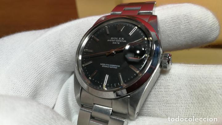 Relojes automáticos: RELOJ ROLEX OYSTER DATE ESFERA NEGRA del año 1976 , calibre 1570, de 26 rubís - Foto 81 - 183792187