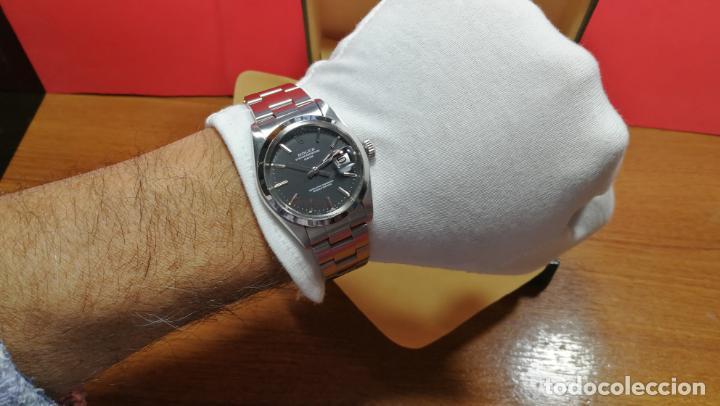 Relojes automáticos: RELOJ ROLEX OYSTER DATE ESFERA NEGRA del año 1976 , calibre 1570, de 26 rubís - Foto 88 - 183792187