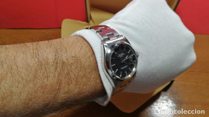 Relojes automáticos: RELOJ ROLEX OYSTER DATE ESFERA NEGRA del año 1976 , calibre 1570, de 26 rubís - Foto 90 - 183792187
