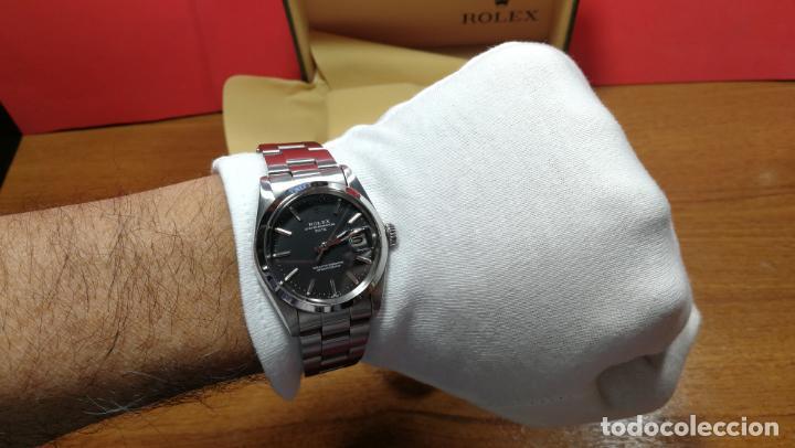 Relojes automáticos: RELOJ ROLEX OYSTER DATE ESFERA NEGRA del año 1976 , calibre 1570, de 26 rubís - Foto 92 - 183792187