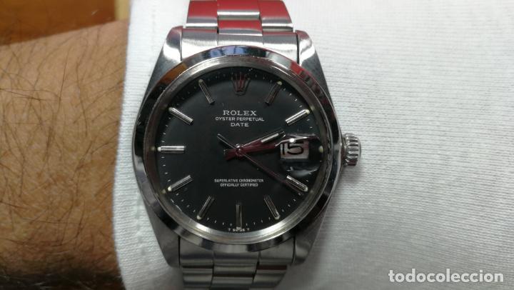 Relojes automáticos: RELOJ ROLEX OYSTER DATE ESFERA NEGRA del año 1976 , calibre 1570, de 26 rubís - Foto 93 - 183792187