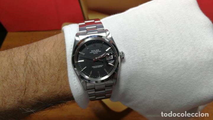 Relojes automáticos: RELOJ ROLEX OYSTER DATE ESFERA NEGRA del año 1976 , calibre 1570, de 26 rubís - Foto 94 - 183792187