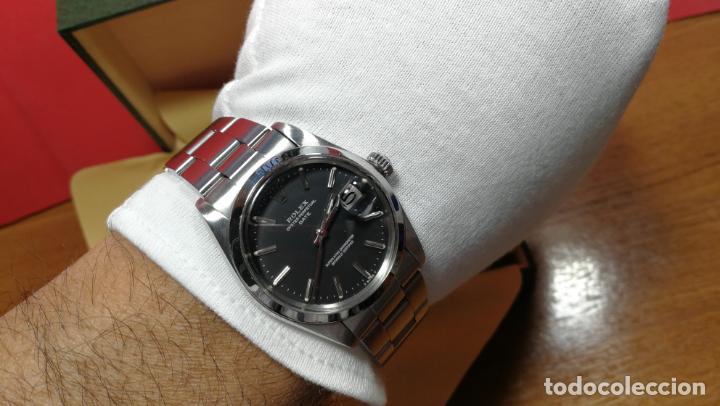 Relojes automáticos: RELOJ ROLEX OYSTER DATE ESFERA NEGRA del año 1976 , calibre 1570, de 26 rubís - Foto 95 - 183792187