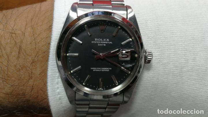 Relojes automáticos: RELOJ ROLEX OYSTER DATE ESFERA NEGRA del año 1976 , calibre 1570, de 26 rubís - Foto 96 - 183792187