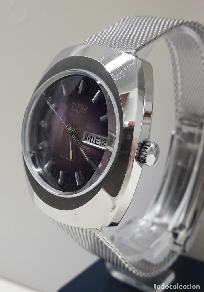 Relojes automáticos: RELOJ VINTAGE AUTOMÁTICO MARCA TITAN AÑOS 70 PRÁCTICAMENTE NUEVO - Foto 2 - 184554162