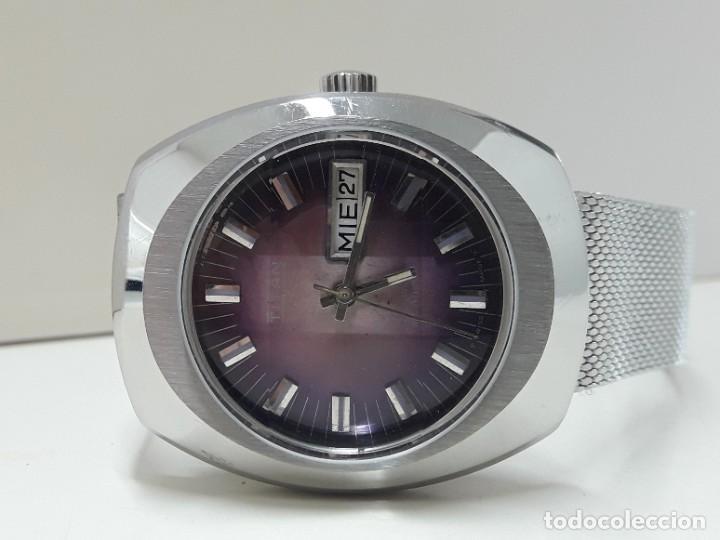 Relojes automáticos: RELOJ VINTAGE AUTOMÁTICO MARCA TITAN AÑOS 70 PRÁCTICAMENTE NUEVO - Foto 6 - 184554162