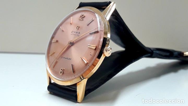 Relojes automáticos: ESPECTACULAR RELOJ VINTAGE CYMA AUTOROTOR DE ORO DE LEY AÑOS 50 AUTOMÁTICO Y NUEVO - Foto 4 - 184727252