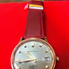 Relojes automáticos: RELOJ SUPER WATCH 25RUVIS CALENDARIO CHAPADO 20MICRAS FUNCIONA PERFECTAMENTE DIÁMETRO 34MILIMTROS. Lote 184838473
