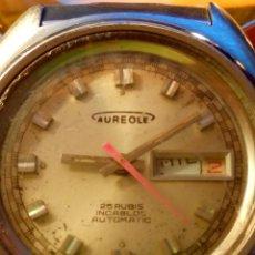 Relojes automáticos: RELOJ AUREOLE - AUTOMATICO. 25 RUBIS. SUIZO. AÑOS 70. 38.50 MM. FUNCIONANDO. DESCRIPCION Y FOTOS.. Lote 184903551