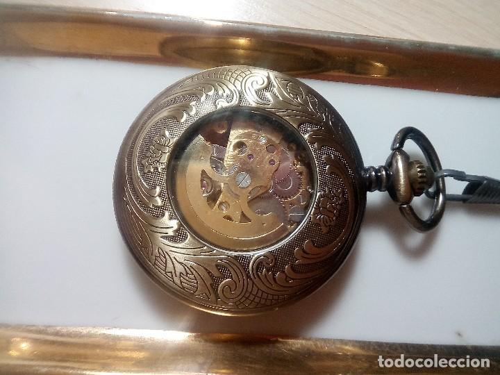 Relojes automáticos: RELOJ COBRE AUTOMATICO. - Foto 2 - 218838720