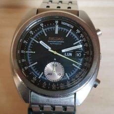 Relojes automáticos: RELOJ SEIKO 6139 6012 CRONOGRAFO, AUTOMÁTICO, VINTAGE, CON CORREA ORIGINAL. Lote 186434288