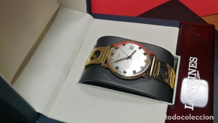 Relojes automáticos: MAGNIFICO RELOJ LONGINES AUTOMÁTICO de 1970, EN CAJA DE ORO DE 18K, Cal 505 - Foto 10 - 187434290