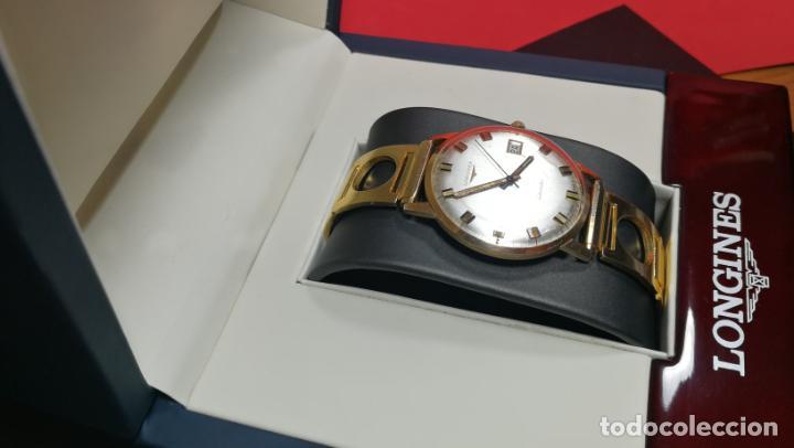 Relojes automáticos: MAGNIFICO RELOJ LONGINES AUTOMÁTICO de 1970, EN CAJA DE ORO DE 18K, Cal 505 - Foto 11 - 187434290