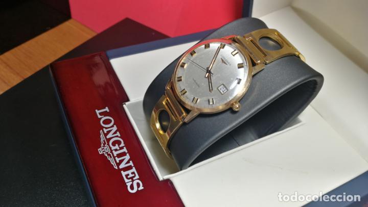 Relojes automáticos: MAGNIFICO RELOJ LONGINES AUTOMÁTICO de 1970, EN CAJA DE ORO DE 18K, Cal 505 - Foto 18 - 187434290