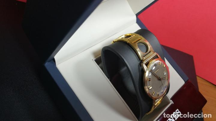 Relojes automáticos: MAGNIFICO RELOJ LONGINES AUTOMÁTICO de 1970, EN CAJA DE ORO DE 18K, Cal 505 - Foto 19 - 187434290