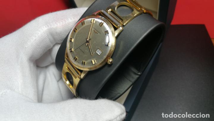Relojes automáticos: MAGNIFICO RELOJ LONGINES AUTOMÁTICO de 1970, EN CAJA DE ORO DE 18K, Cal 505 - Foto 41 - 187434290
