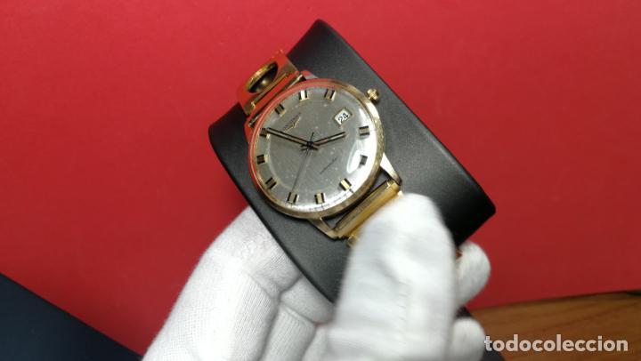 Relojes automáticos: MAGNIFICO RELOJ LONGINES AUTOMÁTICO de 1970, EN CAJA DE ORO DE 18K, Cal 505 - Foto 44 - 187434290