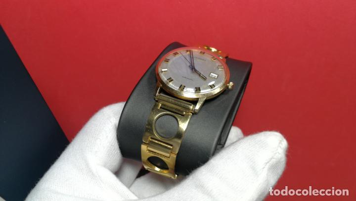 Relojes automáticos: MAGNIFICO RELOJ LONGINES AUTOMÁTICO de 1970, EN CAJA DE ORO DE 18K, Cal 505 - Foto 49 - 187434290
