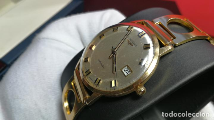 Relojes automáticos: MAGNIFICO RELOJ LONGINES AUTOMÁTICO de 1970, EN CAJA DE ORO DE 18K, Cal 505 - Foto 63 - 187434290
