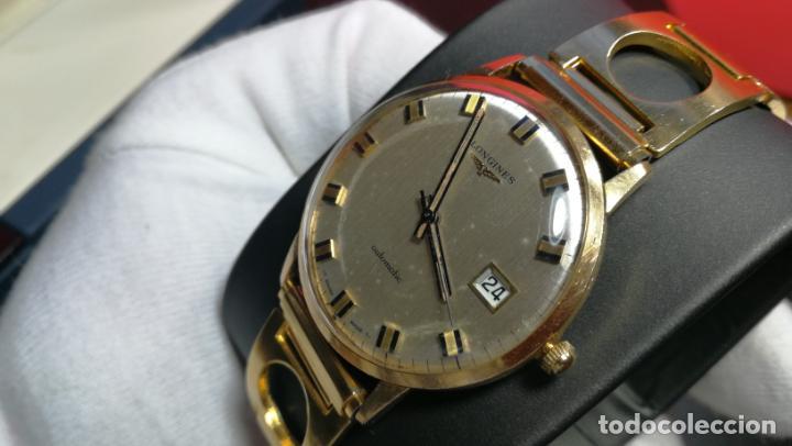 Relojes automáticos: MAGNIFICO RELOJ LONGINES AUTOMÁTICO de 1970, EN CAJA DE ORO DE 18K, Cal 505 - Foto 64 - 187434290