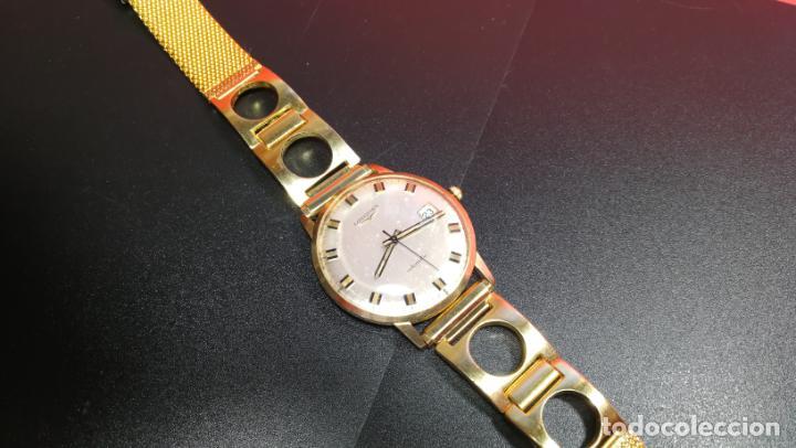 Relojes automáticos: MAGNIFICO RELOJ LONGINES AUTOMÁTICO de 1970, EN CAJA DE ORO DE 18K, Cal 505 - Foto 77 - 187434290