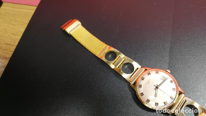 Relojes automáticos: MAGNIFICO RELOJ LONGINES AUTOMÁTICO de 1970, EN CAJA DE ORO DE 18K, Cal 505 - Foto 78 - 187434290
