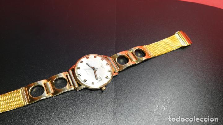 Relojes automáticos: MAGNIFICO RELOJ LONGINES AUTOMÁTICO de 1970, EN CAJA DE ORO DE 18K, Cal 505 - Foto 79 - 187434290