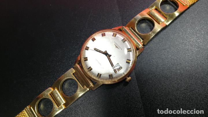 Relojes automáticos: MAGNIFICO RELOJ LONGINES AUTOMÁTICO de 1970, EN CAJA DE ORO DE 18K, Cal 505 - Foto 81 - 187434290