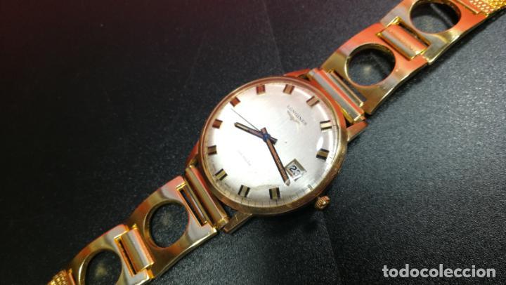 Relojes automáticos: MAGNIFICO RELOJ LONGINES AUTOMÁTICO de 1970, EN CAJA DE ORO DE 18K, Cal 505 - Foto 82 - 187434290