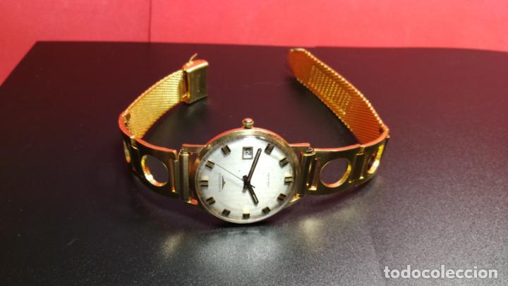 Relojes automáticos: MAGNIFICO RELOJ LONGINES AUTOMÁTICO de 1970, EN CAJA DE ORO DE 18K, Cal 505 - Foto 84 - 187434290