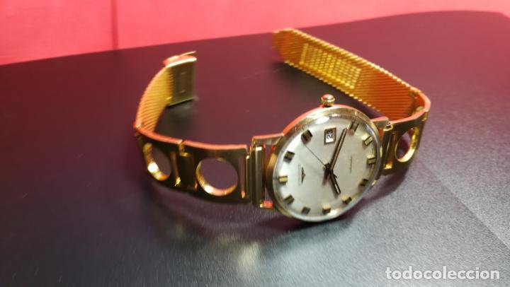 Relojes automáticos: MAGNIFICO RELOJ LONGINES AUTOMÁTICO de 1970, EN CAJA DE ORO DE 18K, Cal 505 - Foto 85 - 187434290