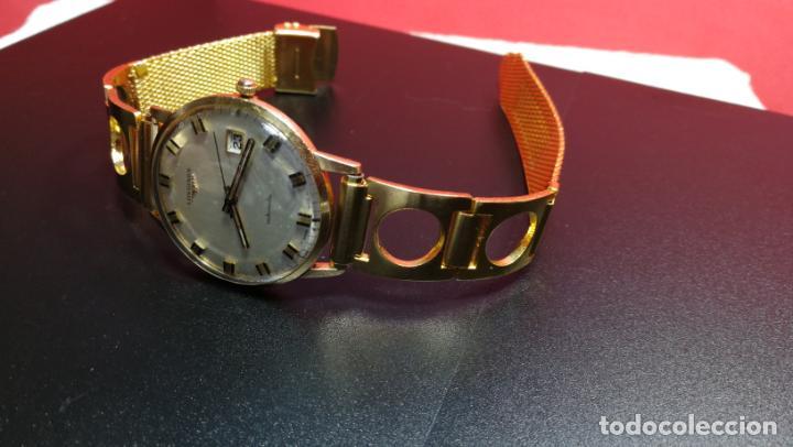 Relojes automáticos: MAGNIFICO RELOJ LONGINES AUTOMÁTICO de 1970, EN CAJA DE ORO DE 18K, Cal 505 - Foto 87 - 187434290