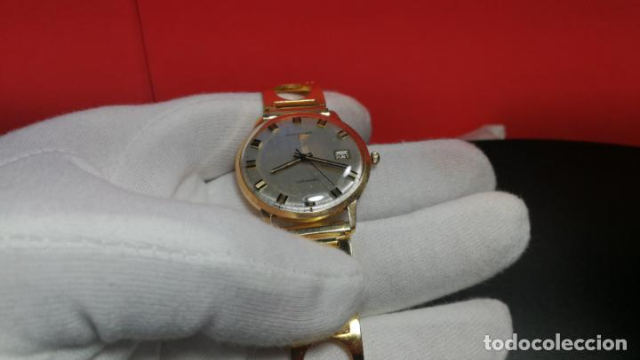 Relojes automáticos: MAGNIFICO RELOJ LONGINES AUTOMÁTICO de 1970, EN CAJA DE ORO DE 18K, Cal 505 - Foto 97 - 187434290