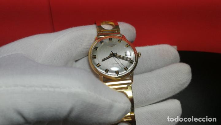 Relojes automáticos: MAGNIFICO RELOJ LONGINES AUTOMÁTICO de 1970, EN CAJA DE ORO DE 18K, Cal 505 - Foto 98 - 187434290