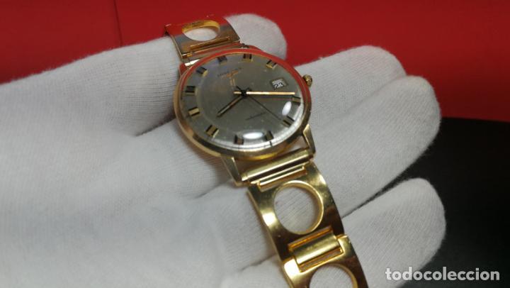 Relojes automáticos: MAGNIFICO RELOJ LONGINES AUTOMÁTICO de 1970, EN CAJA DE ORO DE 18K, Cal 505 - Foto 99 - 187434290
