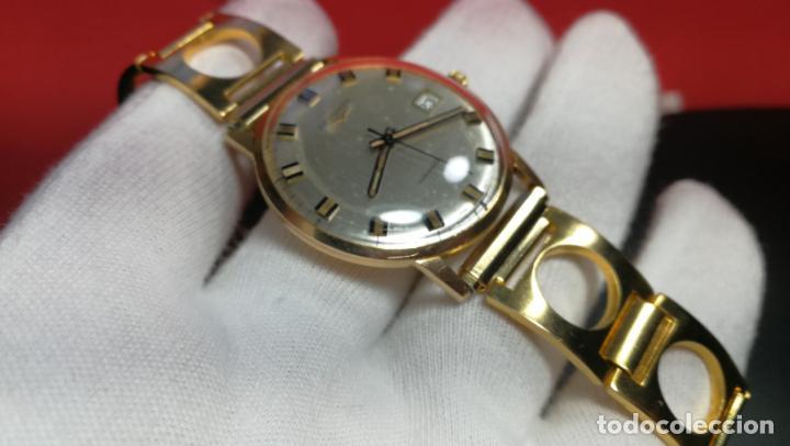 Relojes automáticos: MAGNIFICO RELOJ LONGINES AUTOMÁTICO de 1970, EN CAJA DE ORO DE 18K, Cal 505 - Foto 100 - 187434290