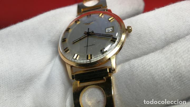 Relojes automáticos: MAGNIFICO RELOJ LONGINES AUTOMÁTICO de 1970, EN CAJA DE ORO DE 18K, Cal 505 - Foto 101 - 187434290
