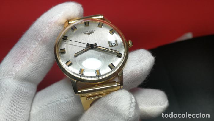 Relojes automáticos: MAGNIFICO RELOJ LONGINES AUTOMÁTICO de 1970, EN CAJA DE ORO DE 18K, Cal 505 - Foto 107 - 187434290