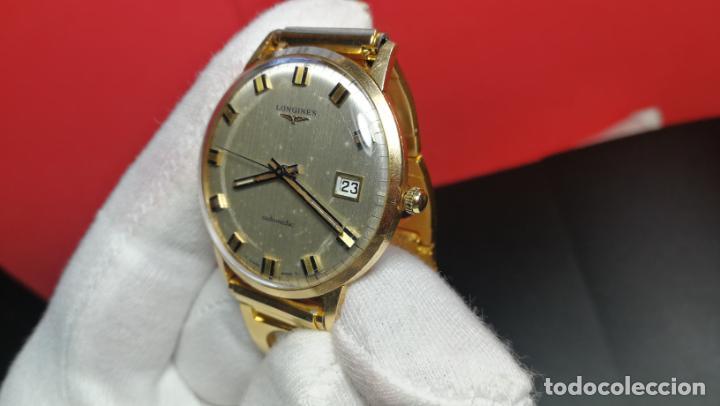 Relojes automáticos: MAGNIFICO RELOJ LONGINES AUTOMÁTICO de 1970, EN CAJA DE ORO DE 18K, Cal 505 - Foto 108 - 187434290