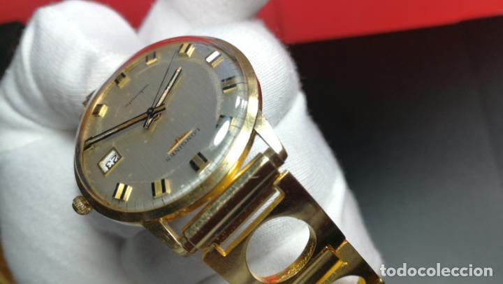 Relojes automáticos: MAGNIFICO RELOJ LONGINES AUTOMÁTICO de 1970, EN CAJA DE ORO DE 18K, Cal 505 - Foto 110 - 187434290