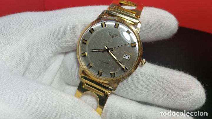 Relojes automáticos: MAGNIFICO RELOJ LONGINES AUTOMÁTICO de 1970, EN CAJA DE ORO DE 18K, Cal 505 - Foto 115 - 187434290