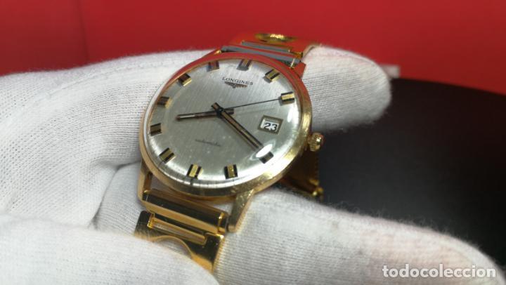 Relojes automáticos: MAGNIFICO RELOJ LONGINES AUTOMÁTICO de 1970, EN CAJA DE ORO DE 18K, Cal 505 - Foto 116 - 187434290